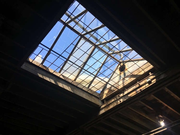 A skylight in the roof of Wonder Cowork Create's building at 340 Monroe Avenue. (Eric Clausen)