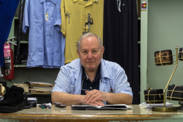 Maury Evensky, owner of Evensky's Big and Tall, has witnessed the store's evolution from a sundry offering men and women's clothing, hardware and food to focusing solely on quality men's clothes. (Renier Otto)
