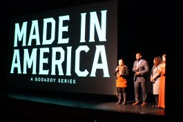 GoDaddy's Made in America docu-series premiered in Memphis on November 22. Its first episodes feature Memphis-area entrepreneurs. Stacy Cline stands at the far left. (Cole Bradley, High Ground News)