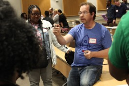 One hundred sixty-one students met for the first day of the 20-week LaunchCode class, held at Southwest Tennessee Community College. (Submitted)