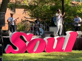 Musical artist J Buck performed on the Bring Your Soul stage at the 5th annual SoulsvilleUSA Festival. (Kim and Jim Coleman)