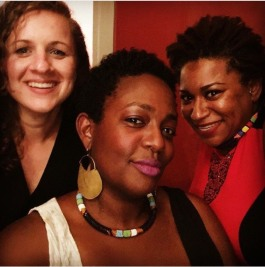 Center for Southern Literary Arts co-directors Molly Rose Quinn, Jamie Hatley and Zandria Robinson (L ro R)