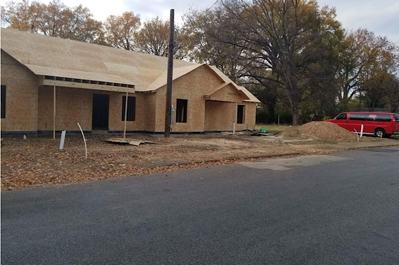 The four-bedroom, two-bathroom duplexes currently being constructed on Ethel Street will increase housing opportunities in Orange Mound and will rent for about $750 to $800. (Howard Eddings)