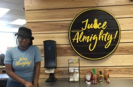 Aster Demekech, 27, is the director of Juice Almighty, a juice bar and café inside of the Memphis Rox climbing facility in South Memphis. (Kim Coleman)