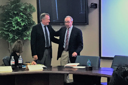Dr. Kevin Kunz, left, and Dr. David Stern colloborated to develop a proposal for a statewide addiction medicine network.