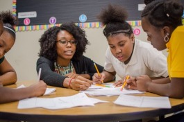 Residents of Memphis Teacher Residency spend a school year in the classroom with a mentor-teacher getting hand-on training.