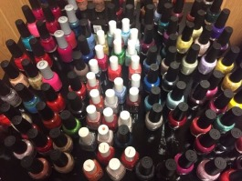 A selection of polish at Colours the Nail Salon, located at 881 South Cooper. (Sarah Jones)
