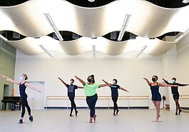 Teaching artists with the New Ensemble Ballet and School perform a socially-distanced dance routine. (Submitted)