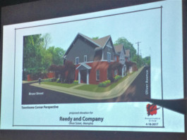A proposed design for the Oliver Place condos was revealed at a April 28 neighborhood meeting.
