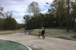 The new segment of the Wolf River Greenway has a 1.2-mile paved trail, wide concrete and asphalt paths and a boardwalk.