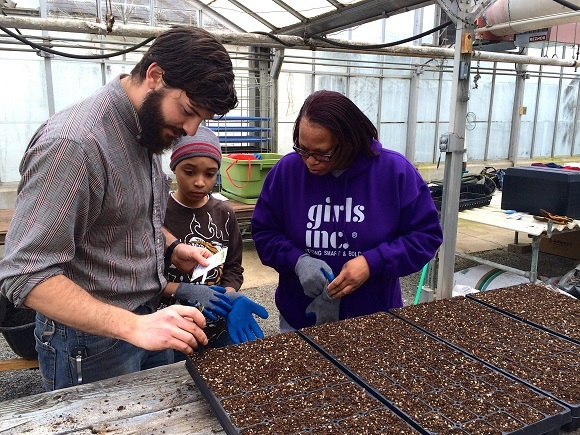 Through workshops and hands-on experience, girls will learn the business side of farming.