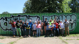 A May 13 clean-up day at the site of a future homeless shelter for LGBTQ youth.