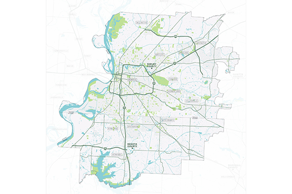 The master plan will cover all of Shelby and DeSoto Counties, as well as parts of Marshall and Fayette Counties.