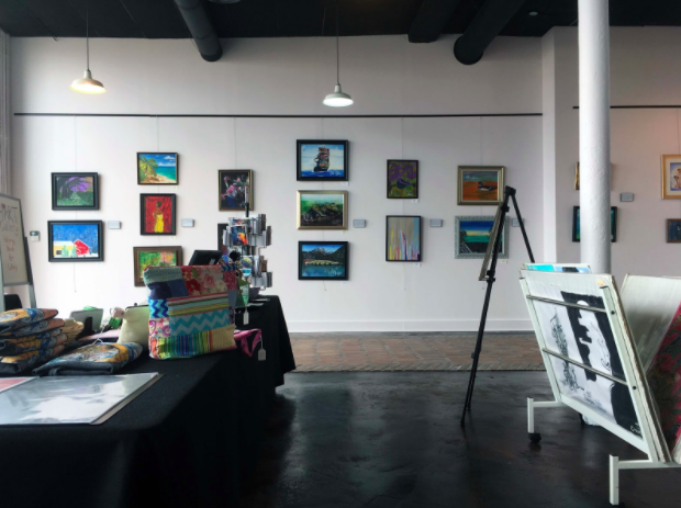 The inside of the H*Art Gallery in Memphis, located at 645 Marshall Ave. Works on display are for sale as well as handcrafted items and prints.