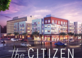 Architect's rendering of The Citizen mixed-use development.