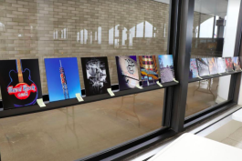 Judges evaluate submissions to the airport's student art competition. (Submitted)