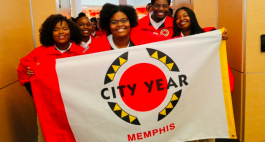 City Year volunteers work with students inside and outside the classroom to help them reach graduation.