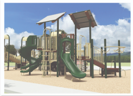 One of two proposed playground designs for the new L.E. Brown Park in South City. (City of Memphis, Division of Parks and Neighborhoods)