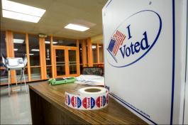 Voting location at Mississippi Boulevard Christian Church at 70 N. Bellevue Blvd. (Daily Memphian)