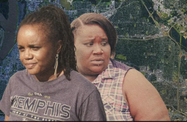 Roshun Austin (L), president/CEO of The Works, Inc., and South Memphis resident Dolores Bateman are featured in the Memphis-based Divides Cities documentary. The short film was produced by The Guardian and gaps food access in Memphis. (The Guardian)