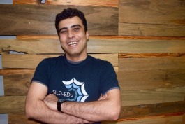 Borhan Samei, SILQ CTO and co-founder, poses at the startup's office at Cowork Memphis.