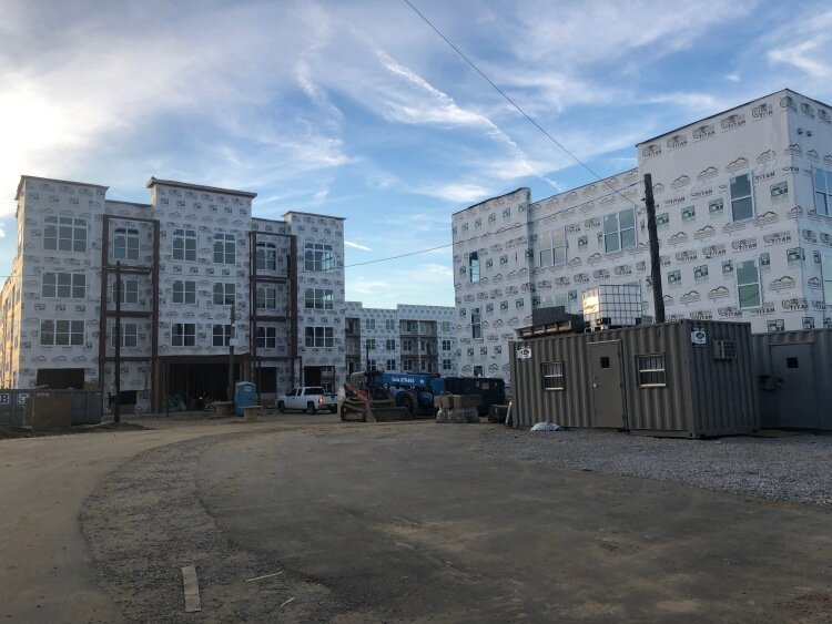 Phase two of the South City housing development under construction. (Cole Bradley)