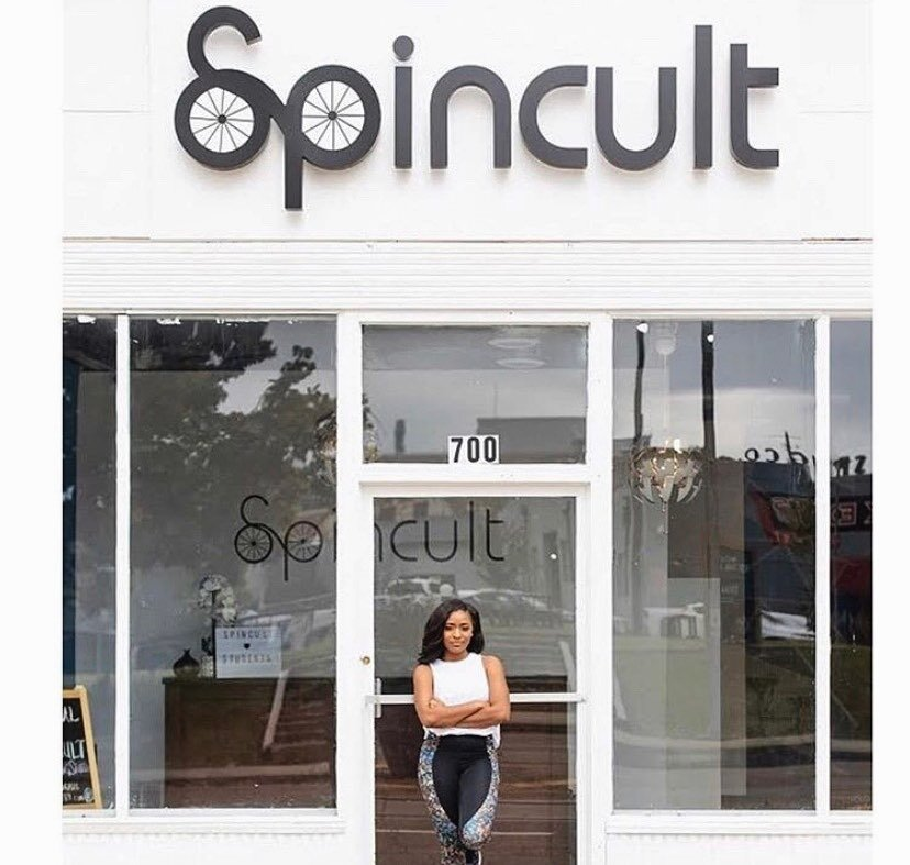 Victoria Young, pictured, opened Spincult at 700 Madison Avenue in August 2018. The indoor fitness studio offers a variety of options for cycling devotees. (Spincult)