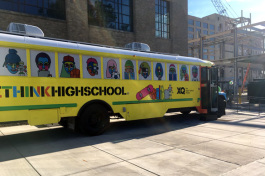 The XQ Super School bus rolled into Memphis to welcome Crosstown High to the family.