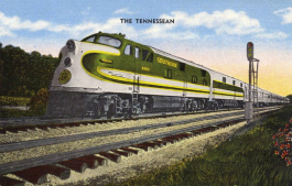 The Tennessean, the luxury liner that replaced the Memphis Special as the main passenger train on the Southern Railway in 1941. (Memphis Public Libraries)