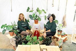 Meghan Paige (left) and Keneisha Malone opened Terra Cotta October 3, 2020. The store is both a plant shop and space for customers to shop locally made goods, including jewelry, apparel, and candles. (Submitted)