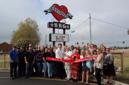 The opening of One & Only BBQ in Cordova