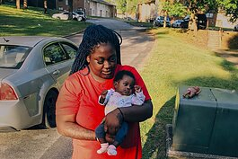 Jasmine Thomas lives with her grandmother and 4-month-old daughter, A'Maria. Photo courtesy of Thomas.